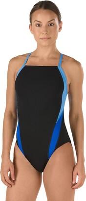 Speedo Women's Launch Splice Cross Back Endurance Swimsuit