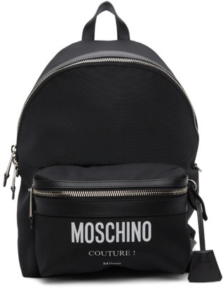 Moschino Black Cordura Couture Backpack