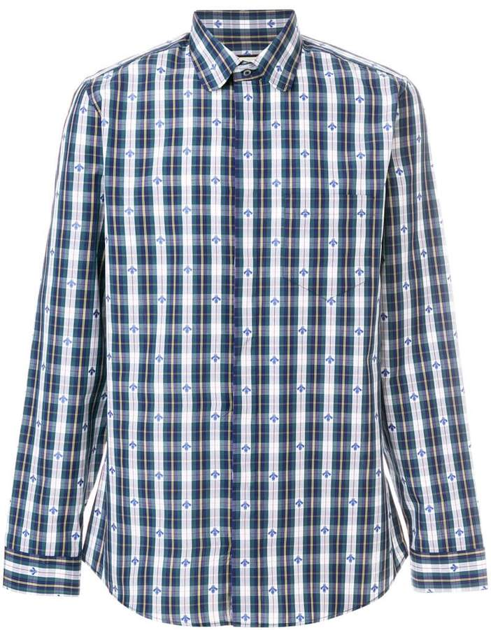 Gucci diamond plaid print shirt