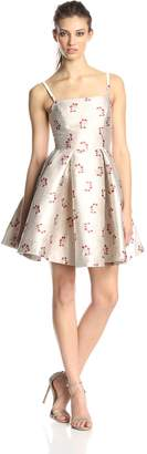 Erin Fetherston ERIN Women's Sabrina Metallic Cherry Print Flared Dress