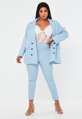 Missguided Plus Size Blue Co Ord Basic Cigarette Trousers