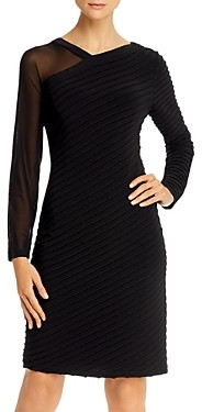 Adrianna Papell Asymmetric Pintuck Dress