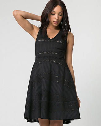 Le Château Crochet V-Neck Dress