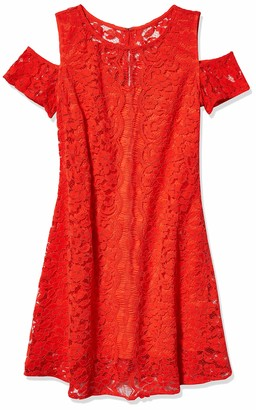 Julian Taylor Women's Decorative Lace Cold Shoulder Dress