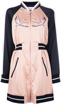RED Valentino embroidered bomber dress - women - Polyester/Spandex/Elastane/Viscose/Polyimide - 40