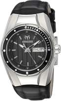 Technomarine Women's Cruise Stainless Steel Quartz Watch with Silicone Strap Black 25 (Model: TM-115386)