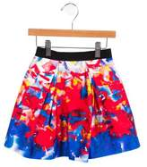 Milly Minis Girls' Printed Pleated Skirt