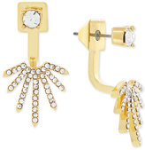 Vince Camuto Gold-Tone Crystal Fan Front and Back Earrings
