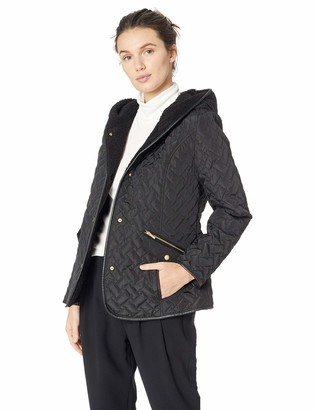 Cole Haan Women's Quilted Hooded Jacket
