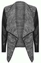 FashionMark Women's Wetlook Sleeves Blazer Cardigan