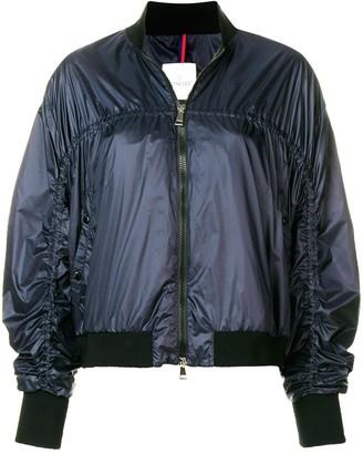 Moncler elongated sleeve bomber jacket