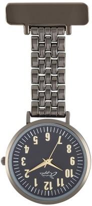 Bermuda Watch Company Annie Apple Gold/Gunmetal Link Bracelet Fob Watch