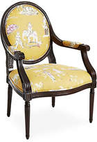 One Kings Lane Darcy Armchair - Yellow Chinoiserie