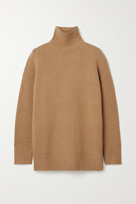 The Row Sadel Oversized Cashmere Turtleneck Sweater - Light brown