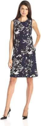 Helene Berman Women's Floral Printed Shift Dress