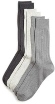 Polo Ralph Lauren Solid Ribbed Dress Socks, Pack of 3