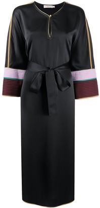 Tory Burch Colour-Block Satin Shift Dress
