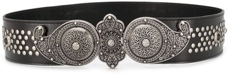Etro studded wide leather belt