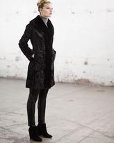 Belle Fare Lambskin Shearling Stroller Coat, Black