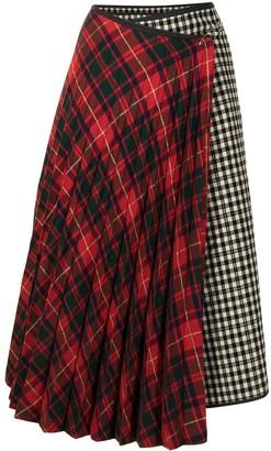 Comme Des Garçons Pre-Owned Panelled Wrap Skirt