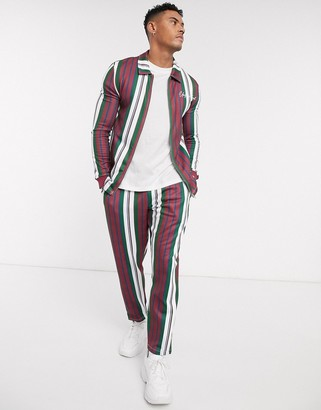 ASOS DESIGN co-ord tapered joggers in multi stripe