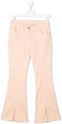Chloé Kids TEEN high-rise flared jeans