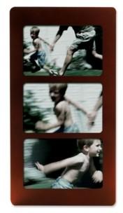 "Lawrence Frames Walnut Wood Multi Triple Horizontal Picture Frame - 6"" x 4"""