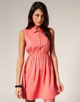 ASOS Pleated Hem Shirt Dress