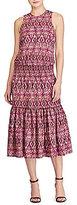 Lauren Ralph Lauren Ikat-Print Midi Dress