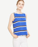 Ann Taylor Striped Boatneck Shell