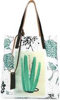 Marni printed shopper tote - women - Leather/PVC - One Size