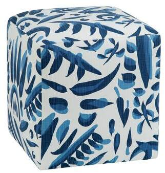 Imagine Home Cote D'azur Lino Cube Ottoman