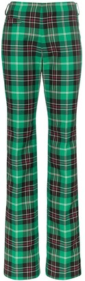 Marine Serre Tartan Boot-Cut Trousers