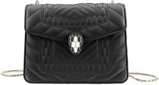 Bvlgari Small Quilted Serpenti Forever Shoulder Bag