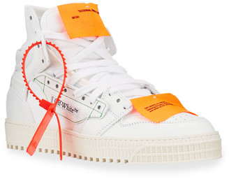 Off-White 3.0 Court Two-Tone High-Top Sneakers