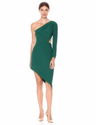 SHO Women's SLVLESS Jersey Assymetrical Dress