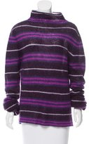 Burberry Striped Turtleneck Sweater