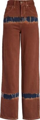 BDG High Waist Tie Dye Boot Cut Jeans