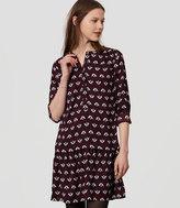 LOFT Flowerbud Flippy Shirtdress