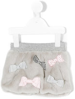 Lapin House - bows embellished fur skirt - kids - polyester - 12 mth