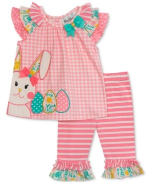 Rare Editions Baby Girls 2-Pc. Bunny Top & Leggings Set