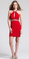 Dave and Johnny Keyhole Embellished Collar Homecoming Dress