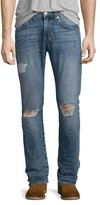 7 For All Mankind Paxtyn Destroyed Denim Jeans, Relic