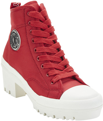 DKNY Women's Casual boots RED:RED - Red Pandie Platform Lace-Up Bootie - Women