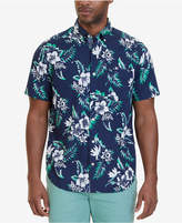 Nautica Men's Classic-Fit Floral Palm Print Short-Sleeve Shirt