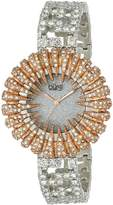Burgi Women's BUR054RG Dazzling Crystal Quartz Bracelet Watch