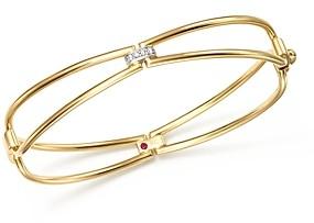 Roberto Coin 18K Yellow Gold Classic Parisienne Diamond Bangle - 100% Exclusive