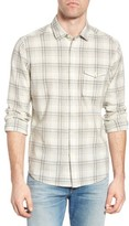 Jeremiah Men's Henri Regular Fit Plaid Cotton & Linen Sport Shirt