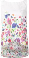 Oscar de la Renta floral print top - women - Nylon/Polyester - 6