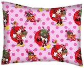 SheetWorld Percale Twin Pillow Case - Minnie Mouse Pink - Made In USA